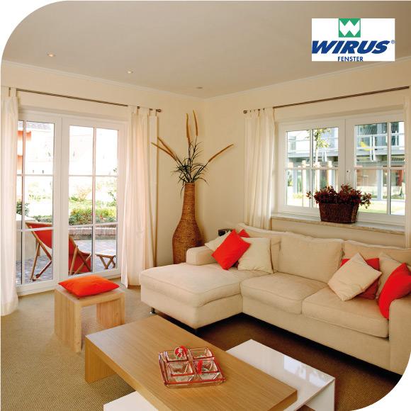 Wirus Fenster gemütliche Wohnzimmerecke mit